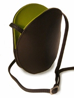 Olbrish Oyster Black and Green Handbag