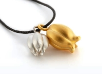 Pura Ferreiro Gold and Silver Nigella Fruits Necklace Set