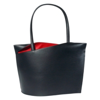 Olbrish Wave Handbag Large in Black and Red