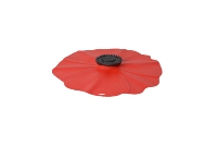 Charles Viancin Poppy Silicone Lid-Red Small 6""