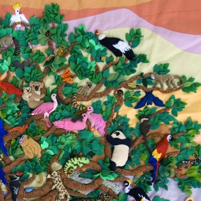 Tree of Life 3D Arpillera Art Quilt