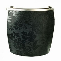 Olbrish Arcade Brocade Flower Handbag - Horsehair/Leather Medium