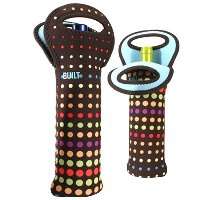 BUILT Neoprene One Bottle Tote, Dot Pattern