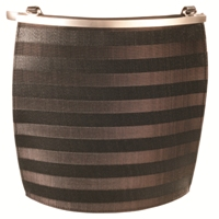 Olbrish Arcade Dark Stripe Bag - Medium (Horsehair and Leather)