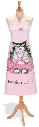 Fashion Victim Cotton Drill Apron by Ann Edwards