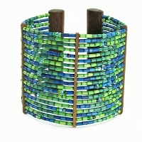 Zulugrass Cuff Oasis Bracelet by Leakey Collection