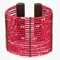 Zulugrass Cuff Cherry Bracelet by Leakey Collection