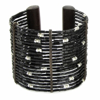 Zulugrass Cuff Black Bracelet by Leakey Collection