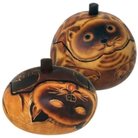Cat Petite Carved Gourd Box