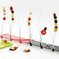 Small Entities Appetizer Tray E20 Degusto in Black by Mebel