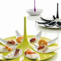 Small Entities Appetizer Tray E16 Green/White by Mebel