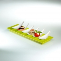 Small Entities Appetizer Tray E16 Degusto in Green by Mebel