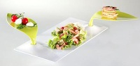Appetizers For 2 Platter, E24 Degusto White/Green by Mebel