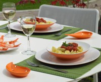 Small Entities Appetizer Set of 6 Dishes, E9 Orange by Mebel