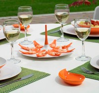 Small Entities Appetizer Tray E16 White/Orange by Mebel