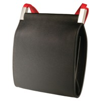 Olbrish Foyer Handbag - Black with Red Straps