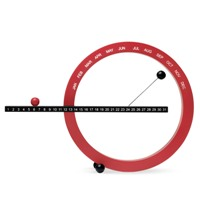 MoMA Perpetual Calendar Small Red/Blk designed by Gideon Dagan