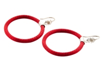 Colori Hoops Earrings Red