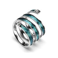 Spring Ring in Turquose Argento SB