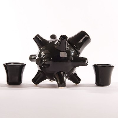 Sake Bomb By Alexander Purcell - Black Sake Decanter
