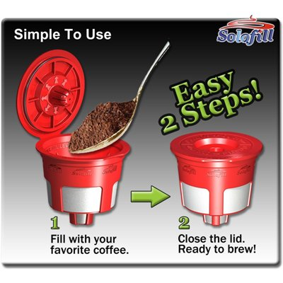 Solofill Cup Refillable K-Cup for Keurig Brewers 2 Pack
