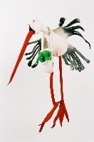 Viecheria Stork with Frog Stuffed Animal