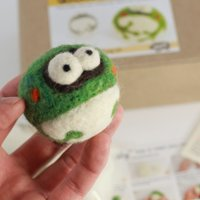 Frog Needle Felting Kit (Easy) By Woolbuddy