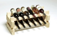 Modularack 12 Bottle Modular Wine Rack (2x6) Natural