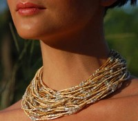 Zulugrass Watamu Sands Necklace by Leakey Collection