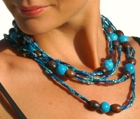 Zulugrass Amani Necklace in Cobalt Blue