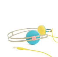 AIAIAI - Tracks Headphones - Blue/Yellow with Mic