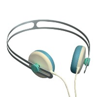 AIAIAI - Tracks Headphones - Creme/Blue with Mic