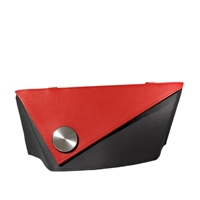 Olbrish Drehpunkt (Pivot) Handbag Black with Red Accent