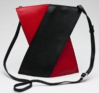 Olbrish Generation X Handbag - Large Black and Red