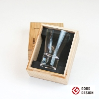 Shot Glass Clear in Wood Gift Box from Eternal Glass