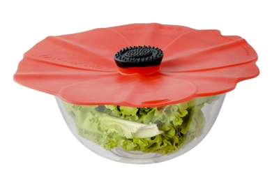 The New PoppyTM Silicone Lid, available in 3 sizes, is the beautiful solution to keeping your microwave oven clean and your leftovers fresh.� Made of FDA approv...