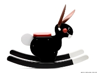 PLAYSAM Rocking Rabbit Black 14448