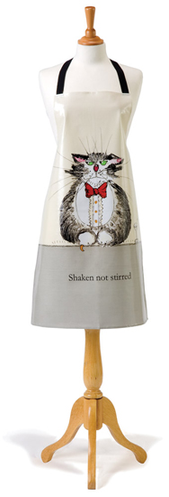Shaken Not Stirred Cotton Drill Apron