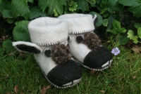 Booties - Wool with Yak Face